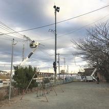 東電柱移設の準備工事