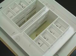 8の字屋敷 模型
