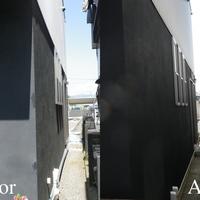 外壁色は新築当時と同じ色を塗り直し、建物のイメージを変えないこととしたの画像